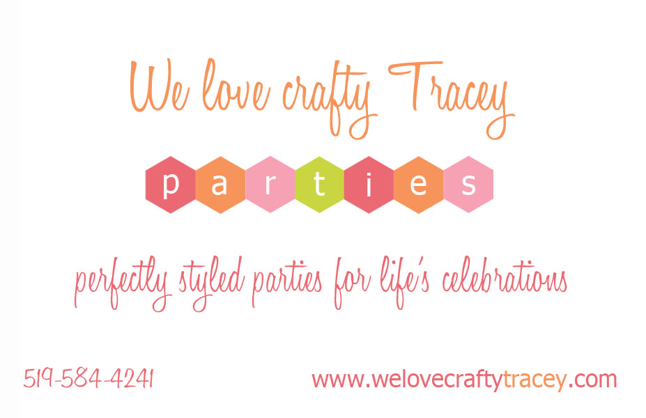 We love crafty Tracey parties