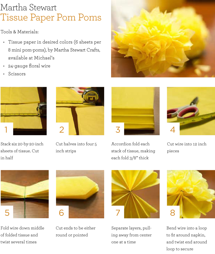 How to make tissue paper flowers martha stewart comousar how to make tissue paper flowers martha stewart diy tissue paper pompom mightylinksfo