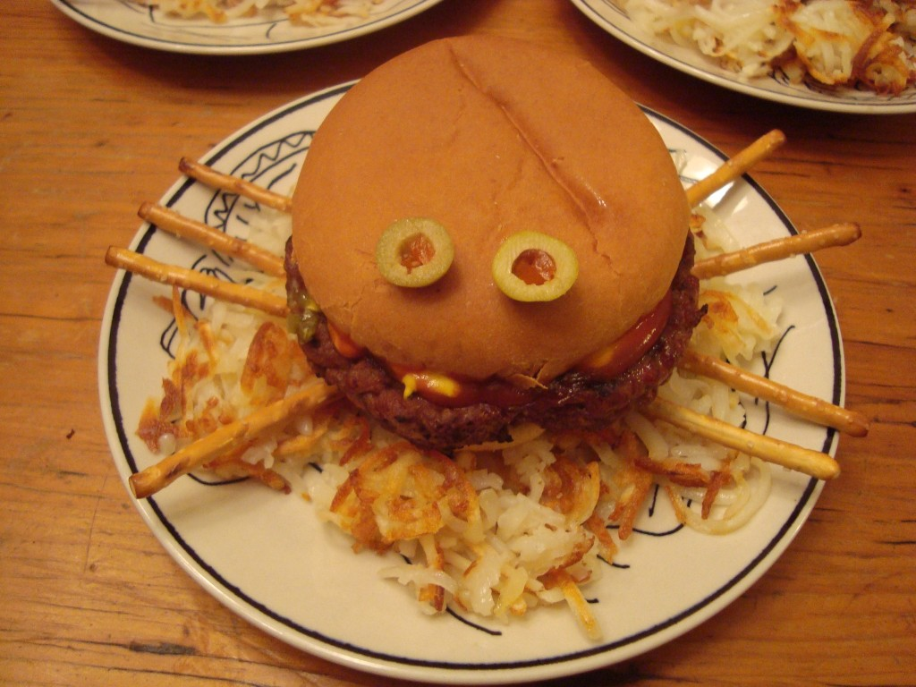Spider burger!