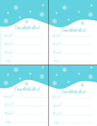 Let It Snow! Invites