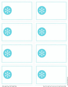 free printable} snowflake gift tags and tent cards « We Love Crafty ...