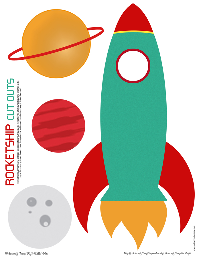 Rocketship We Love Crafty Tracey