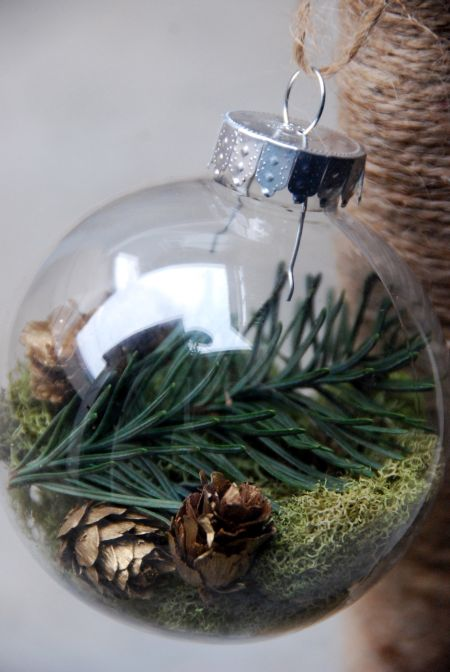 DIY Natural Holiday Bauble Ornaments